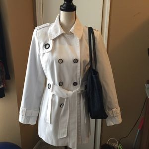 Calvin Klein Short Trench Coat Size Medium